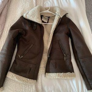 BB Dakota leather coat